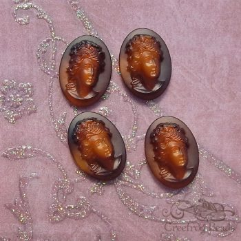13x18 brown relief cameos