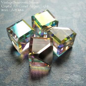 Swarovski art 4841 cube crystal ab