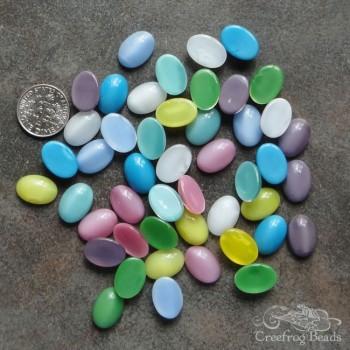 Vintage glass moonstones