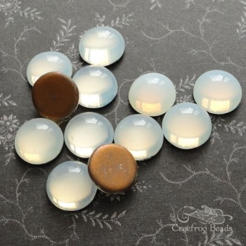 white opal glass cabochons