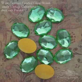 13x18 peridot glass cabochons