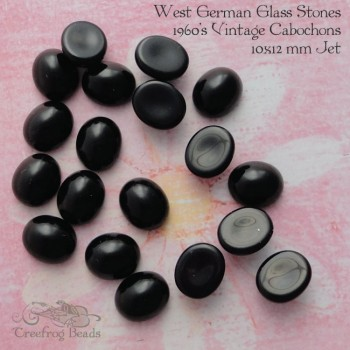 10x12 black glass stones