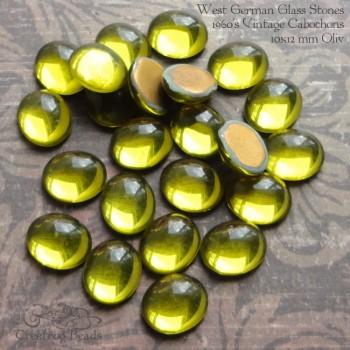 10x12mm olive flatbacks