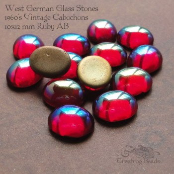 10x12 Ruby AB glass stones