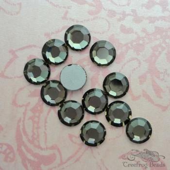black diamond Swarovski flatbacks