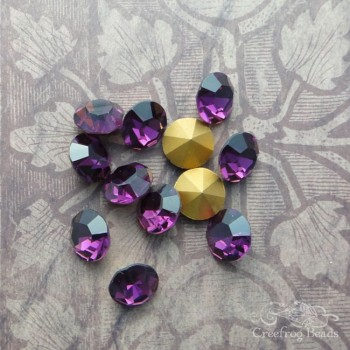 Optima pointback rhinestones in amethyst
