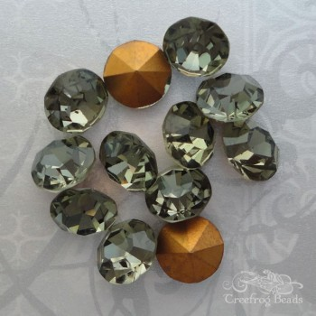 vintage Czech rhinestones in black diamond