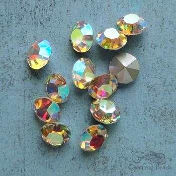 Vintage Czech rhinestones in crystal AB