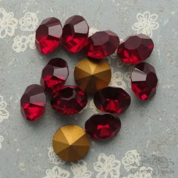vintage czech rhinestones in siam ruby