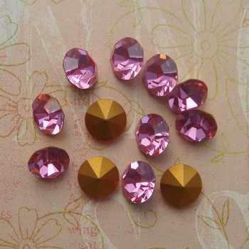 swarovski art 1100 pointback chatons in rose