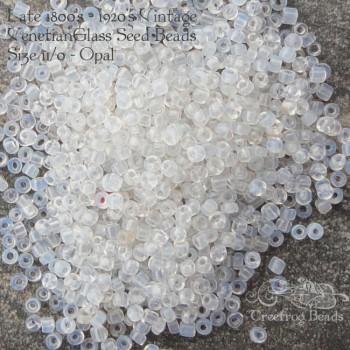 size 11 beads milky white