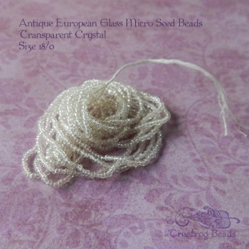antique micro seed beads in crystal