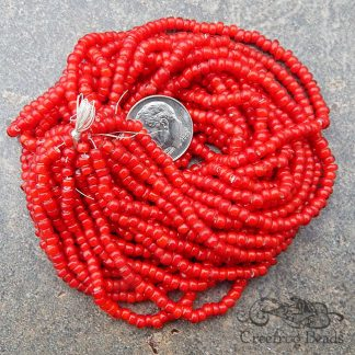 antique venetian white heart seed beads