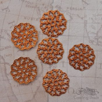 raw brass filigree stamping