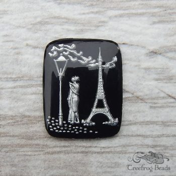 Vintage West German intaglio cameos with Paris lovers scene
