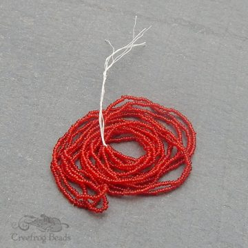 Size 20/0 seed beads - TSP auburn red