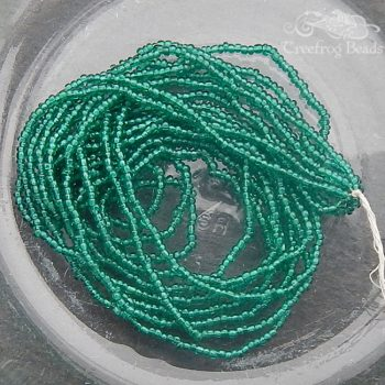 Size 20/0 seed beads - TSP teal emerald